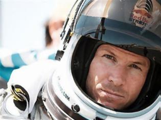 Φωτογραφία για Felix Baumgartner: Η πτώση από την κάμερα στο κράνος του (Video)