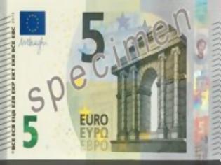 Φωτογραφία για Προσοχή! Αύριο κυκλοφορεί το νεο χαρτονόμισμα των 5 ευρώ!