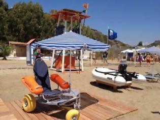 Φωτογραφία για Ειδικά αμαξίδια πρόσβασης των ΑμΕΑ σε παραλίες της Κρήτης