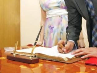 Φωτογραφία για Οι πολιτικοί γάμοι ξεπέρασαν τους θρησκευτικούς