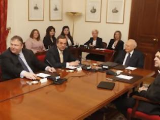Φωτογραφία για Ολοκληρώθηκε η πρώτη συνάντηση των πολιτικών αρχηγών