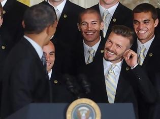Φωτογραφία για Ο David Beckham στον Λευκό Οίκο